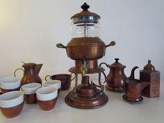 Jos Heinrichs 1907 Steampunk Bronze Copper Brewing Coffee Urn & Accessories