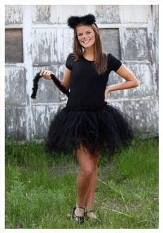 Teen Tutu Cat Costume LeotardTutu w/TailHeadpieceThis cute cat tutu costume is perfect for trick-or-treating or a Halloween party! The teen tutu cat cos Mom Costumes, Halloween Costumes For Teens, Halloween Costumes With Tutus, Halloween Party, Group Halloween, Easy Halloween, Halloween Makeup, Costume Ideas, Black Cat Costumes