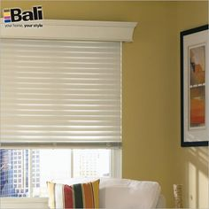 Blinds.com Gallery - Shown in color White Cotton with Regal Wood Cornice.