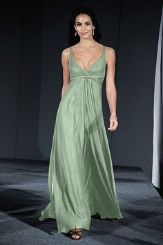 Wedding Dresses, Bridesmaid Dresses, Prom Dresses and Bridal Dresses WTOO Bridesmaid Dresses - Style 418 - Watters Bridesmaid Dresses, Fall Chiffon V-neck dress with ties at empire and front draped skirt. Classic Bridesmaids Dresses, Bridesmaid Dress Styles, Bridal Dresses, Bridesmaid Ideas, Green Formal Dresses, Green Dress, Nice Dresses, Ball Dresses, Prom Dresses