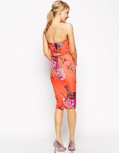 ASOS Petite | ASOS PETITE Body-Conscious Dress In Placed Bouquet Print at ASOS