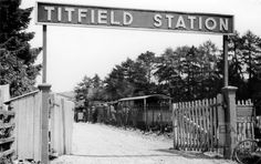 The entrance to Titfield Station, Monkton Combe 1952