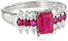 10k White Gold Ruby and Diamond Ring... $500.00
