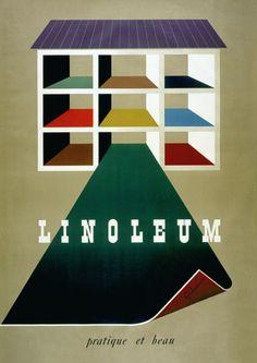 Giubiasco Linoleum Practical & Beautiful c.1950