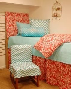 Dorm Room Bedding, I Love The Chair Cover! Part 27