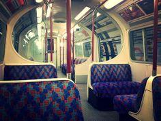 Interior of an empty Bakerloo Line train   Flickr - Photo Sharing!