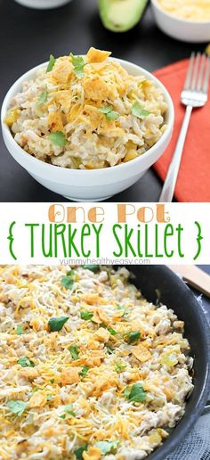 Easy turkey skillet recipe all cooked in one pot. The quickest easiest dinner you will ever make! Easy turkey skillet recipe all cooked in one pot. The quickest easiest dinner you will ever make! Quick Ground Turkey Recipes, Ground Turkey Dinners, Ground Turkey Pasta, Healthy Turkey Recipes, Ground Turkey Casserole, Simple Ground Turkey Recipe, Healthy Ground Turkey Dinner, Cooked Turkey Recipes, Quick Easy Dinner