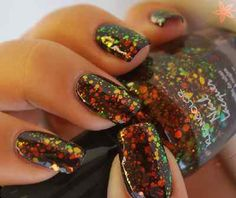 1 NEW Kleancolor Nail Polish Art Varnish 3d Glitter Design
