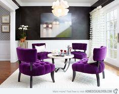 15 Pretty in Purple Living Room Furniture | Home Design Lover