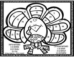 Thanksgiving Turkey Prime and Composite Number Coloring Sheet FREEBIE Prime And Composite Numbers, Prime Numbers, Bird Coloring Pages, Coloring Sheets, Colouring, Thanksgiving Mantle, Thanksgiving Cookies, Hello Kitty Coloring, Numbers For Kids