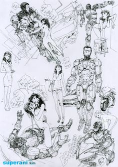 Original RoboCop Doodles by Kim JungGi