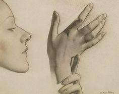 Man Ray, Profil et Mains, 1932
