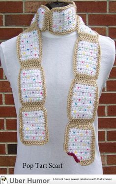 Poptart scarf, yes I would LOVE to get this, in the colors shown if possible or as close to please :)
