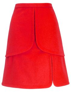 Peter Som Red Wool Tulip Skirt in Red | Lyst Last seen for €379 at Avenue32.