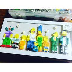 The Simpsons perler beads by chocokaru