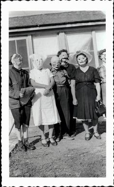 vintage photo Costume Women Scary Eerie Halloween Masks unusual ~ These are scarier than anything mass produced today!