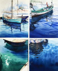 "8,228 Likes, 112 Comments - Julia Barminóva WATERCOLOR (@juliabarminova) on Instagram: ""I like to see some of my pictures from one collection together. All my sea watercolors here:…"""