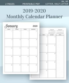 If you consider yourself a busy person who loves planning your life and prefer analog handwriting tools over digital devices, this Full 2019-2020 Two Pages Spread Yearly Calendar Template is for you. It is both functional and simple. So, it doesn't require too much hassle to start working with. It