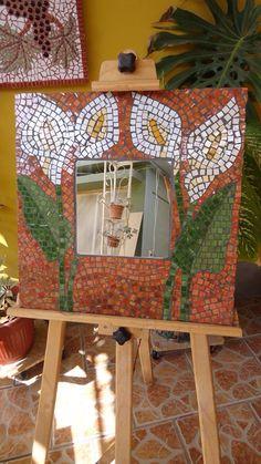 Calas Mirror Mosaic, Calla Lilies, Mirrors, Mosaics, Patterns