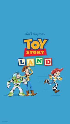 Toy story land wallpaper - mobile in 2019 Toy Story Theme, Toy Story Party, Toy Story Birthday, Disney Phone Wallpaper, Cartoon Wallpaper, Arte Disney, Disney Art, Disney Pixar, Disney Baby Toys
