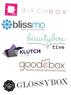 A comparison of different monthly subscription beauty sample boxes.