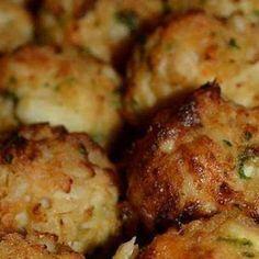 Crab Balls Recipe   Just A Pinch Recipes crab, ritz crackers, egg, old bay, lemon juice, worcestershire, yellow mustard