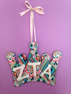 ZTA Crown #lillypulitzer #zta #craft
