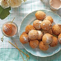 Wash down these warm, Cinnamon-Sugar Doughnut Bites with a shooter of ice-cold chocolate milk.