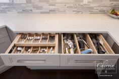 Cutlery Drawer #customcabinetry