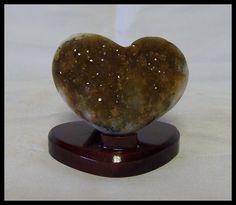 Golden Citrine Geode Drusy Heart Manifestation Imagination Stone Reiki Crystal Wedding Gift Feng Shui by timelessdesigns07 on Etsy