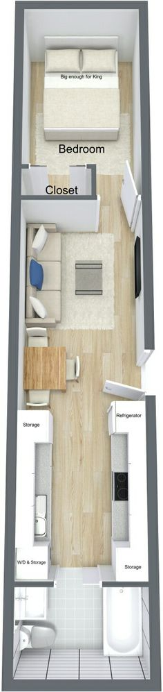 WOULD NEVER HAVE A BATHROOM AND KITCHEN THAT CLOSE TOGETHER BUT I LIKE THE FLOOR PLAN