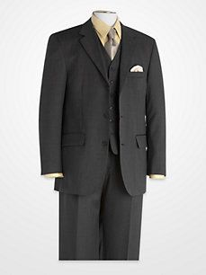 Linea Uomo Charcoal Vested Suit