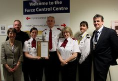 Cheshire Police Force Control Room celebrating their Investors in People Gold award!