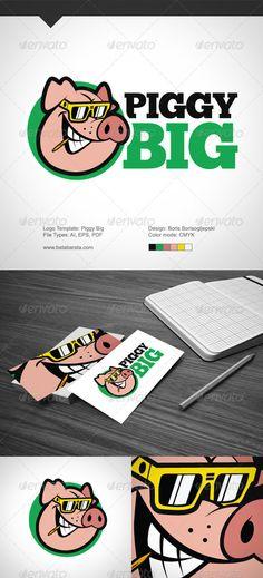 Piggy Big Logo Design Template Vector #logotype Download it here: http://graphicriver.net/item/piggy-big/4111169?s_rank=521?ref=nexion