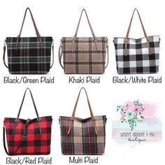 monogrammed buffalo check clutch bridesmaid gift makeup bag teacher gift Personalized red and black check zipper bag with leather tassle