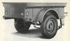 Jeep Cargo Trailer Two detail views of the WWII jeep cargo trailer from ORD 8 SNL G-529: Spare Parts and Equipment for Trailer, ¼-Ton Payload, 2-Wheel, Cargo, 1942-42 (American Bantam T-3 and Willys MBT), Headquarters, Army Service Forces, July 1945.