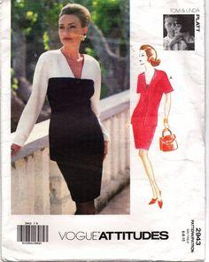 Vogue Designer Tom & Linda Platt 2943 Sewing Pattern Jacket & Skirt SZ 6-8-10 UC #VoguePatterns #TomandLindaPlatt
