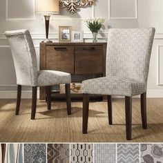 INSPIRE Q Catherine Print Parsons Dining Side Chair (Set of 2) - Free Shipping Today - Overstock.com - 15829235 - Mobile