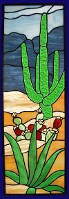 desert sidelight stained glass