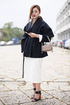 Milan Fashion Week SS17 Street Style: Day 1