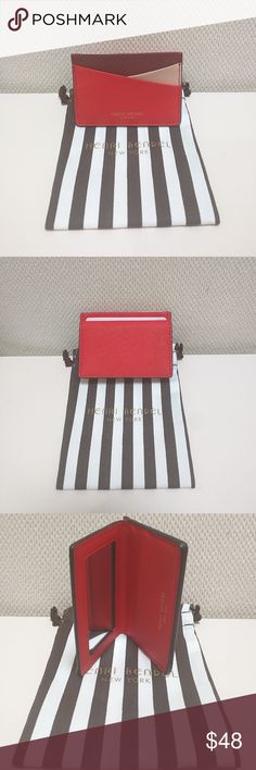 Henri Bendal West 57th Card Case with Mirror There are some hairline scratches on the mirror. I am unavailable to capture them in a photo.  No trades.  Please submit any offers via the offer option. henri bendel Bags Wallets