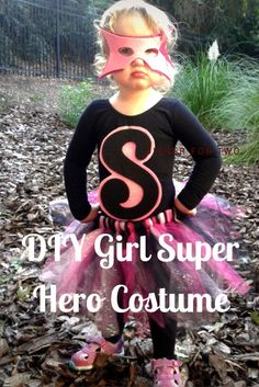 DIY Girl Super Hero Costume :http://www.mommaandthepea.com/diy-girl-super-hero-costume/
