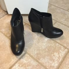 Jessica Simpson booties Black Jessica Simpson booties super cute worn once!!! I got these and another pair of black heels for Christmas I wear the others more!! Super adorable and almost new!!!!  Jessica Simpson Shoes Ankle Boots & Booties
