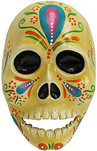 These wonderful and unique Day of the Dead skull masks come from the Befina studio in Leon, Mexico.  In business since 1986, Befina produces artisanal paper mache figures that capture the best in Mexican folklore.