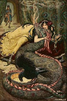 """oldpaintings: """" From The Russian Story Book, 1916 by Frank Cheyne Papé (English, 1878–1972) """""""