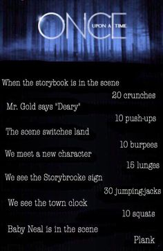 Once upon a time workout, this is how us onceers are skinny