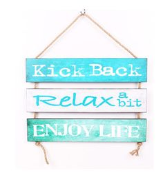 Escape To Paradise Wood Wall Plaque-Kick Back Relax