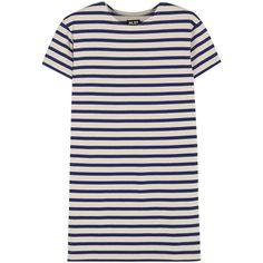 NLST True striped cotton-jersey mini dress ($155) ❤ liked on Polyvore