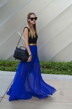 love that blue maxi skirt