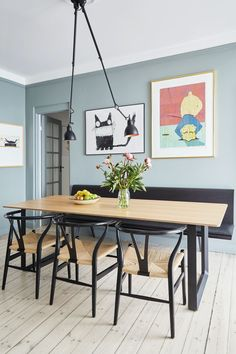 A gorgeous dining space via , styled by 📷 👌🏻 Featuring the Lampe Gras light, available… Decor, Space Decor, Dining Room Design, Kitchen Lamps, Living Decor, Home Decor, Room Decor, Dining, Dining Table